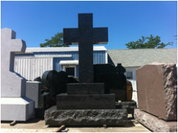 Picture of cross shaped memorial