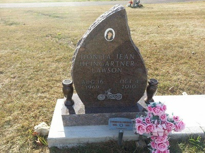 Tear drop shaped memorial headstone